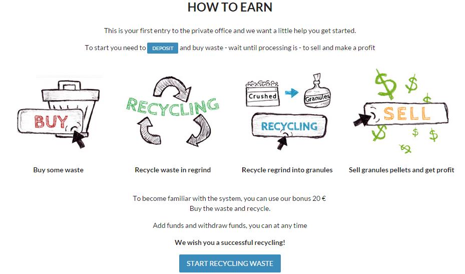 Заработок в Recyclix