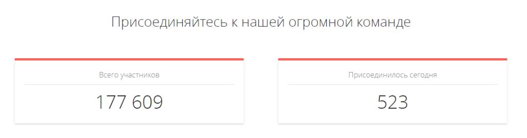 Статистика ГетЛак с официального сайта