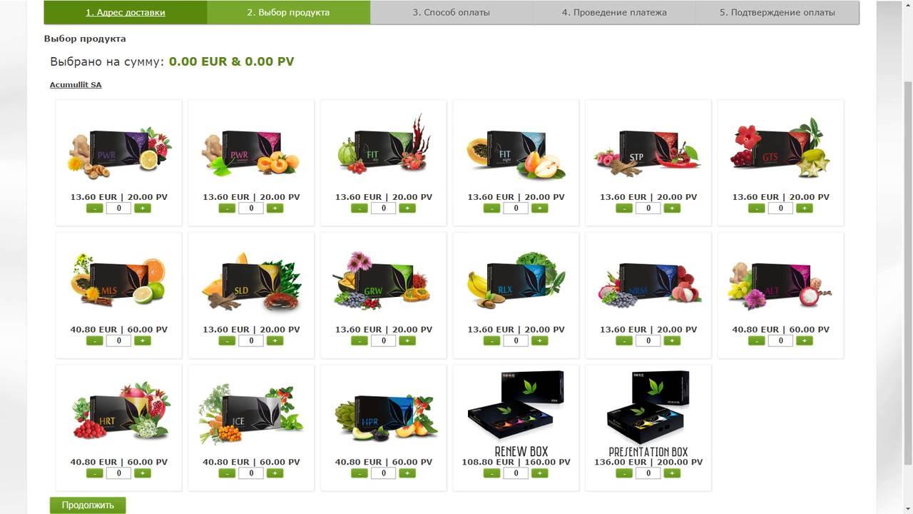 Цены на продукцию Apl