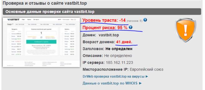 Отзыв про Vastbit на сайте besuccess.ru