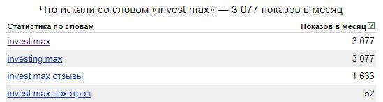 Invest Max