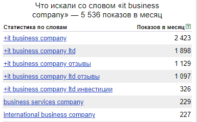 IT Business Company