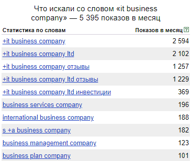 IT Business Company