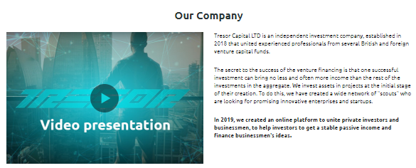 Tresor Capital LTD